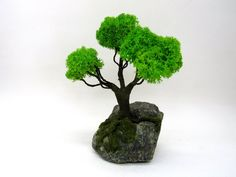 Artificial bonsai tree Low light unique office desk Miniature Trees, Fake Plants, Garden Gifts, Low Lights, Organic Gardening, Bonsai, Herbs, Raised Beds, Office Desk