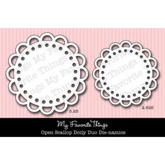 Die-namics Open Scallop Doily Duo
