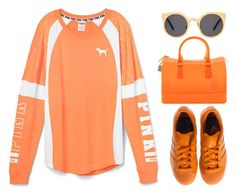 """Orange!!!"" by loveclohthssomuch ❤ liked on Polyvore featuring adidas, Furla, ASOS, women's clothing, women, female, woman, misses and juniors"