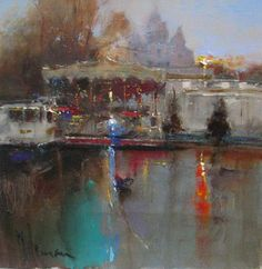 View all art currently available by Peter Wileman FROI RSMA FRSA at Lime Tree Gallery in Bristol and Long Melford, Suffolk. Peter Wileman, Landscape Paintings, Landscapes, British Artists, Urban Landscape, Cityscapes, Carousel, All Art, Venice