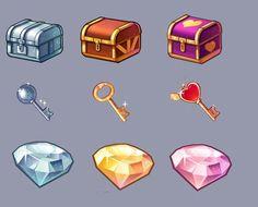 UI video game elements - jewel