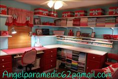 My work space! Organized and easy to keep that way! Everything has a place!!