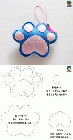 A very cute little feet hanging non-woven production diagrams, used to make phone pendant or key chains are good choices, quickly learn toge ...