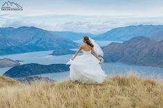 Wedding photography, wanaka, coromandel peak heli wedding