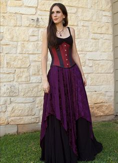 Purple Pixie Skirt Renaissance Costume