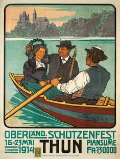 Mixed Media - Oberland Schotzenfest - Thun, Switzerland - Retro Travel Poster - Vintage Poster by Studio Grafiikka , Travel Ads, Travel And Tourism, Travel Europe, Lausanne, Evian Les Bains, Fürstentum Liechtenstein, Swiss Travel, Art Deco Paintings, Retro Poster