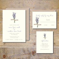 Lavendar Wedding Invitations Lavendar by SweetBellaStationery