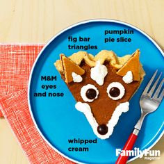 Clever Fox: Add whimsy to a traditional Thanksgiving dessert with this cute-as-pie idea.