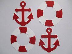 6 Nautical 3 size options Theme Decorations Diecut Cutouts