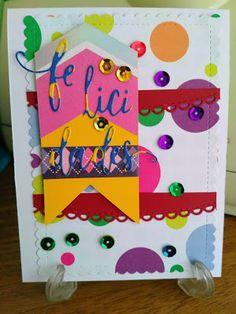 Mi Scrap: felicidades cards Stencils, Card Making, Scrapbook, Frame, Blog, Cards, Home Decor, Cardmaking, Picture Frame