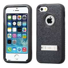 MYBAT Verge M-Stand Case for iPhone 5/5S - Natural Black/Black