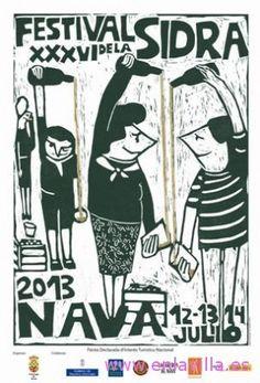 Comarca de la Sidra, Festival de la Sidra en Nava Fiestas de Interés Turístico Nacional 12 a 14 julio Restaurant Poster, Asturias Spain, Beer Garden, The Good Place, The Outsiders, Joker, Posters, Travel, Vintage