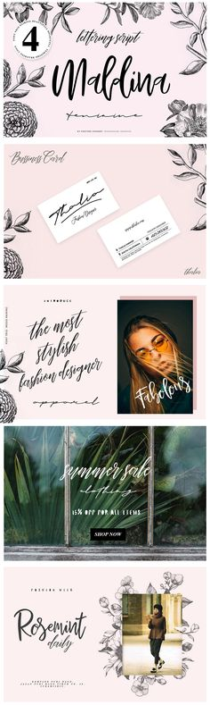 Maldina Feminime - Maldina handmade typeface is font pairing categories, they made from handmade method, it is perfect for branding, event, invitation card, gift promo card, Quote, Poster, Signature name card, lovely instagram posts, and many more.  Maldina is 4 fonts...
