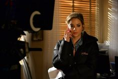 Hanna does not look happy... Tune-in on Tuesday to the ALL NEW PLL to find out what's going on! | Pretty Little Liars