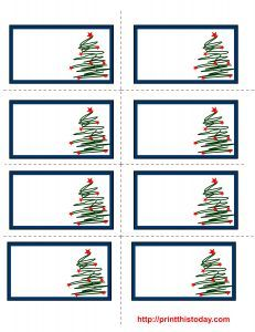 free printable christmas trees labels