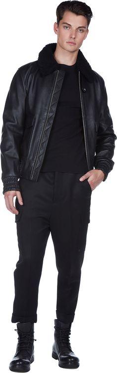 Zipped Shearling Jacket   AMI Alexandre Mattiussi   LOIT