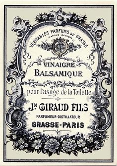 Vintage French Label. Print in reverse with laser printer and use Artisan Enhancements Transfer Gel to apply image to prepared surface!