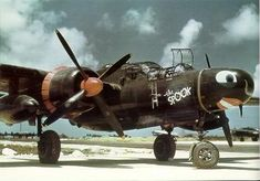 "P-61 ""Black Widow"" our first dedicated night fighter with RADAR in the nose."
