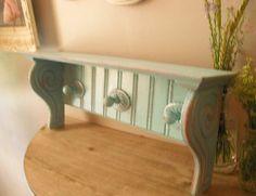 Upcycled Shabby Chic | upcycled Aqua blue Shabby chic Scrolly bead board Southwestern Rustic ...