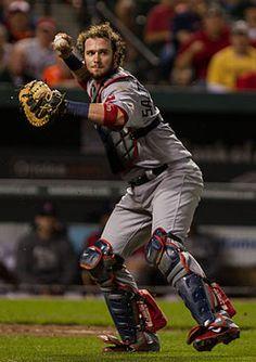 Jarrod Scott Saltalamacchia - Boston Red Sox of Major League Baseball. Red Sox Baseball, Baseball Socks, Baseball Cards, Boston Baseball, Baseball Players, Basketball Goals, Basketball Uniforms, Basketball Court, Boston Sports