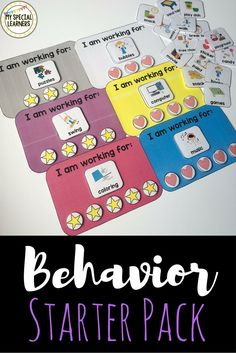 "Refresh your special education behavior tools for the new school year with these ""I am working for"" boards that come in many colors! Match them to your classroom or color code them by student!"