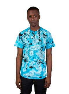 Heather Benjamin: Cyco Tarantula Tie-Dye T-Shirt (Turquoise) | Mishka NYC