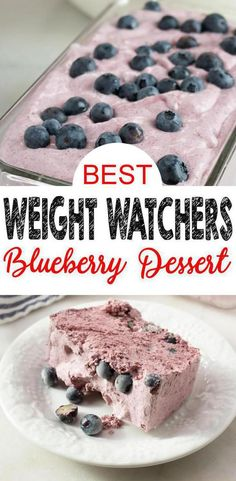 Feb 2019 - Here is a quick and easy homemade blueberry Weight Watchers dessert recipe. If you are looking for a delicious and tasty dessert for a Weight Watchers diet then try this one out. Blueberry Desserts, Köstliche Desserts, Frozen Desserts, Delicious Desserts, Dessert Recipes, Healthy Desserts, Weight Watcher Desserts, Weight Watchers Diet, Ww Recipes