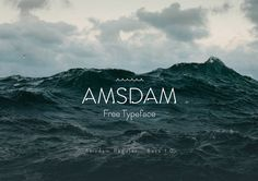 Fresh Free Font Of The Day : Amsdam