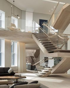 SoHo Loft / Gabellini Sheppard Associates LLP, 2014 AIA Institute Honor Awards for Interior Architecture Glass for Gymea Bay stairs Soho Loft, Design Exterior, Interior And Exterior, Interior Trim, Loft Design, Modern House Design, Design Design, Glass Design, Modern Interior