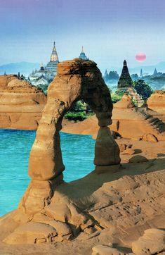 Fantasy World – Leia Nagora Fantasy World, Nature, Travel, Gardens, Winter Garden, Naturaleza, Viajes, Trips, Nature Illustration
