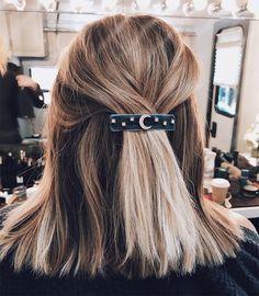 Lauren Conrad half up-do by Kristin Ess Hairstyles that inspire me. Short hair, long hair, braids. Hair & Beauty inspiration blonde, bobs, buns, brunette, hair inspiration, hair styles, blonde hair, curly hair, hair style ideas.