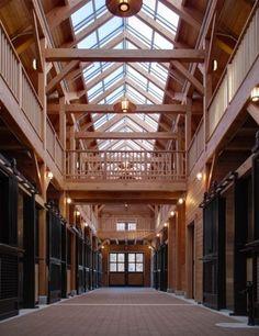 Timber Frame Barn in Massachusetts *dream barn! Dream Stables, Dream Barn, Horse Barn Designs, Mexican Hacienda, Horse Barn Plans, Timber Frame Homes, Timber House, Horse Ranch, Horse Stalls