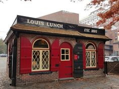 This Ultimate Burger Bucket List In Connecticut Will Make Your Mouth Water Connecticut History, New Haven Connecticut, Hartford Connecticut, Great Places To Travel, Oh The Places You'll Go, Places To Eat, Louis Lunch, Local History, Rhode Island