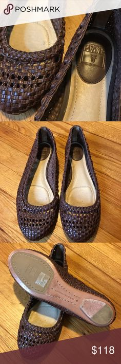 Frye - Leather Flats NWOB New without box. Frye Brand. Brown, braided leather flats Frye Shoes Flats & Loafers