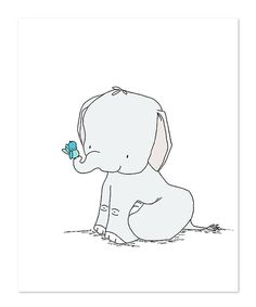Look at this #zulilyfind! Sweet Melody Designs Elephant & Bird Friends Print by Sweet Melody Designs #zulilyfinds