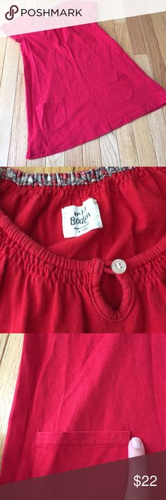 Mini Boden girls dress Sz 9-10 Soft easy breezy. Small tear at one of the pockets - just noticed under close inspection. Smoke free. L Mini Boden Dresses Casual