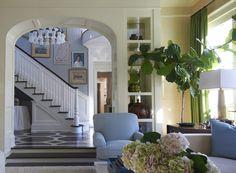 Lynn Morgan Design + Painted Floor + Fiddle Leaf