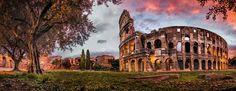Colosseum im Abendrot   Puzzle  