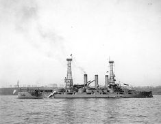 October 3, 1911: USS Louisiana Battleship BB-19 preparing for the Fleet Review in New York City.  Following her final trip back from Brest, Louisiana reported to the Philadelphia Navy Yard, where she was decommissioned on 20 October 1920 and was sold for scrap 1 November 1923. The figurehead was preserved and is on display at City Park in Baton Rouge, Louisiana.