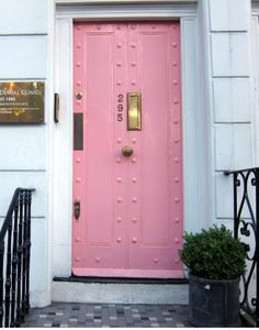 Pink is my favorite, and on a front door its so striking! It may not be best for house, but I love it!
