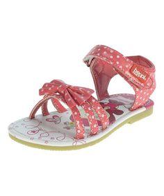 Pink Polka Dot Patent Sandal