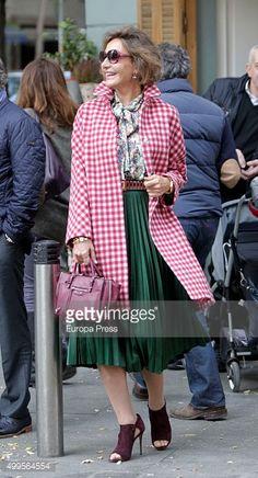 Fotografía de noticias : Naty Abascal is seen on December 1, 2015 in...