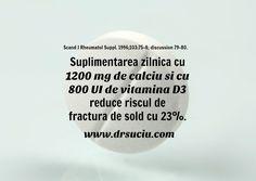 Photo drsuciu Suplimentele de calciu si de vitamina D reduc riscul de fracturi Home Decor, Vitamin D, Decoration Home, Room Decor, Interior Decorating