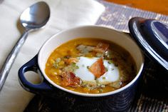Lentil soup with curried brown butter. This combination is fantastic!