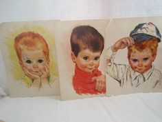 Lot 3 Northern Paper Tissue Boys Prints 11x14"