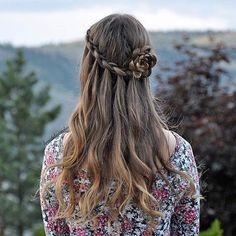 Waterfall Braid + Flower Braid Hairstyle