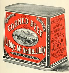And that means yummy corned beef and cabbage dinners. To help you with your St. Patty's Day crafts, collages, and Etsy gifts, use this free vintage illustration of a can of corned beef! Canned Corned Beef, Cooking Corned Beef, Canned Meat, Corned Beef Hash, Cabbage And Potatoes, Corn Beef And Cabbage, Ni Cru Ni Cuit, Pastrami, Juice Branding