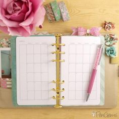 2016 inserts are available now here. I recently picked up a medium gold Kikki.K planner in a swap, but it didn't come with any inserts. So I made my own, and of