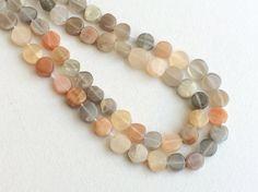 Multi Moonstone Beads  Multi Moonstone Plain Coin by gemsforjewels