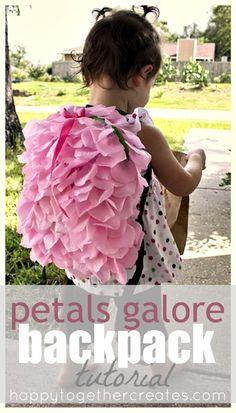 petals galore backpack tutorial